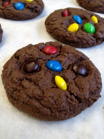 Chocolate cookie with m ms