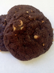 chocolate cookie with pb chips